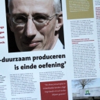 artikel met foto van slagers uit Baarn voor De Slager